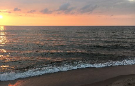 Bobolin - zachód słońca